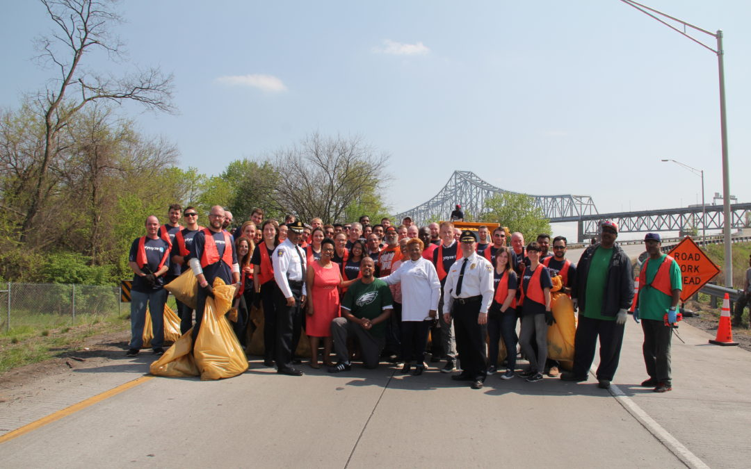 Optymyze partners with the City of Chester during Citywide Cleanup Week Activities