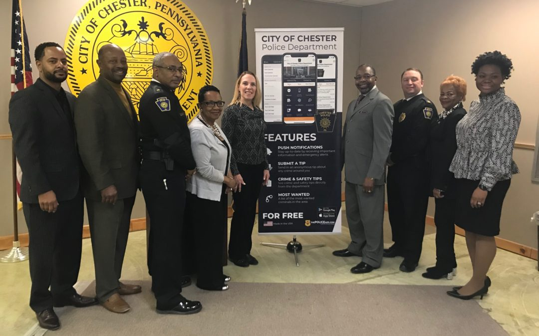Chester Police Announce Nearly 40 Percent Drop in Homicides in 2018, Total Crime on Downward Trend (New Innovative Police Mobile App Now Available to Public)