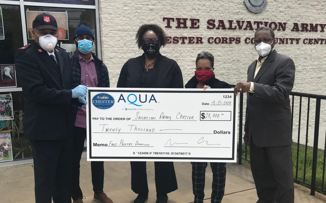 City of Chester Partners with Aqua, Local Food Pantries/Programs Receive $100K Donation Amid COVID-19 Outbreak