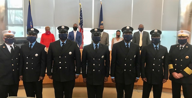 Chester Fire Department Swears-In 5 New Firefighters