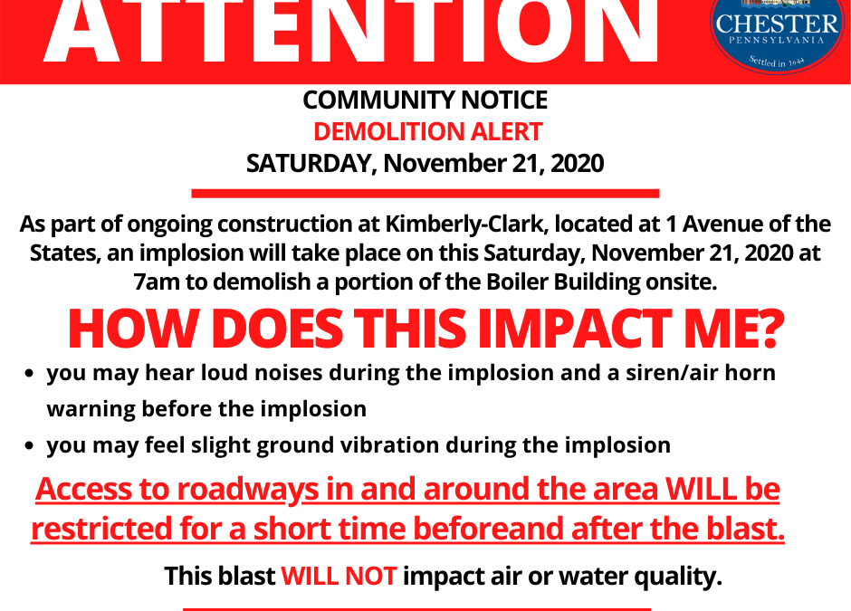Community Alert | Demolition at Kimberly-Clark