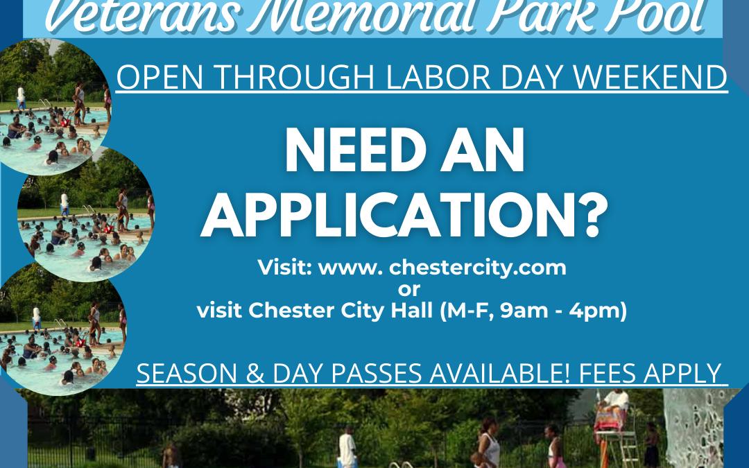 Veterans Memorial Park Pool NOW OPEN!