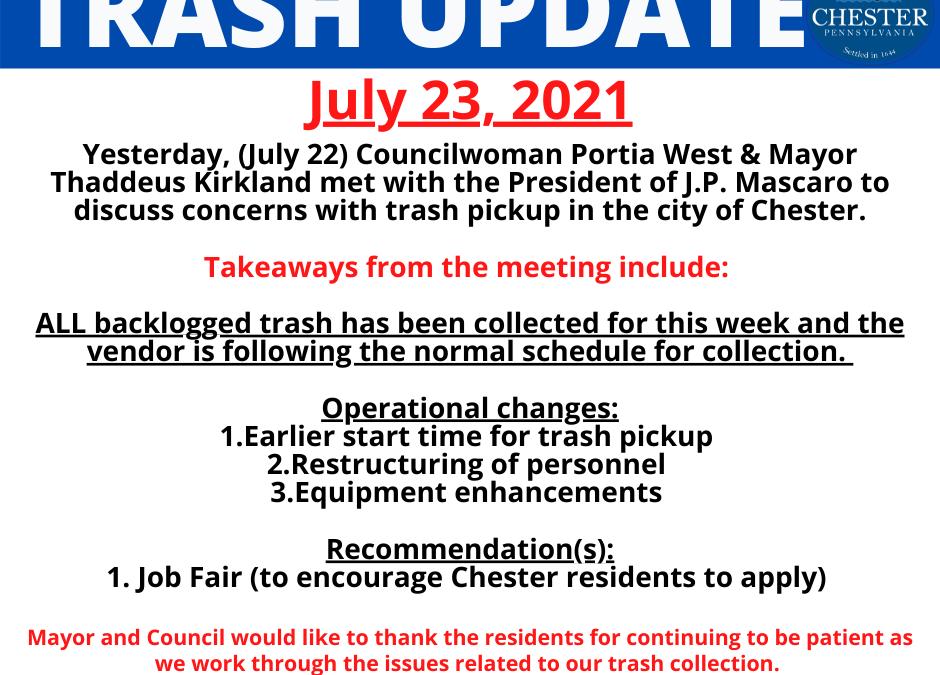 Trash Update (July 23, 2021)