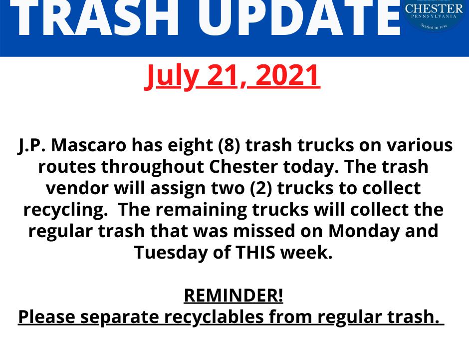Trash Update (July 21, 2021)
