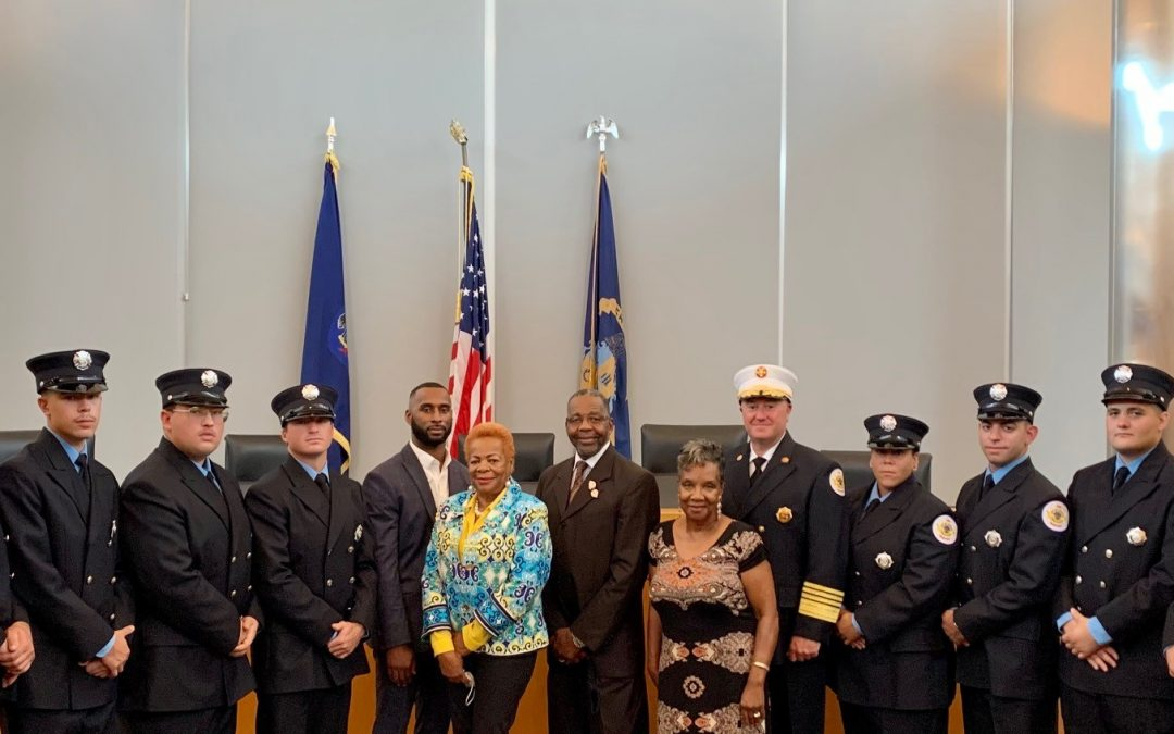 Chester Fire Department Swears-In 10 Apprentice Firefighters, Police Department Promotes Officer to Sergeant